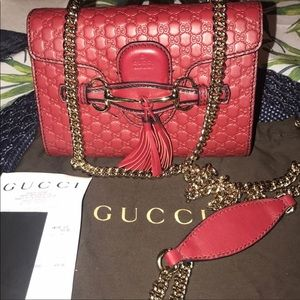 Authentic Genuine Leather Small Gucci Bag